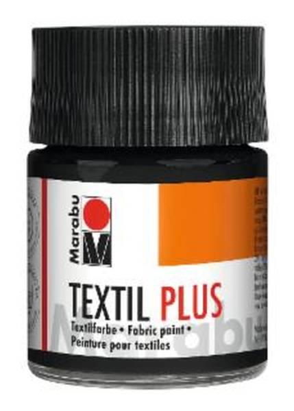 MARABU Textilfarbe Plus schwarz 1715 05 073 50ml
