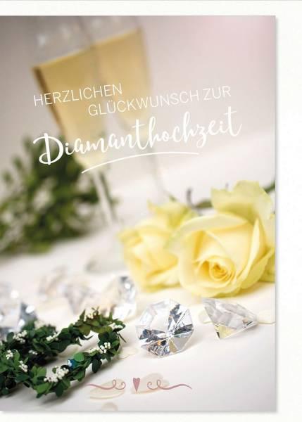 Diamantene Hochzeitskarte 1-565 Bild