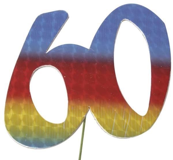 Jubiläumszahl 60 bunt
