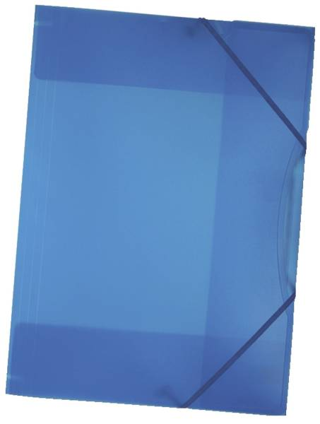 Sammelmappe mit Gummiband, DIN A3, transparent, blau