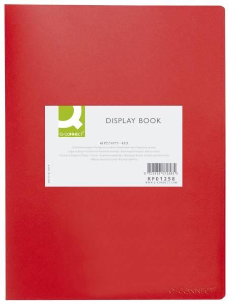 Q-CONNECT Sichtbuch A4 rot KF01258 40Hüllen