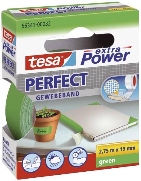 Gewebeklebeband extra Power Gewebeband, 2,75 m x 19 mm, grün