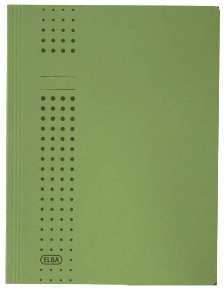 Sammelmappe chic, Karton (RC), 320 g qm, A4, 10 mm, grün