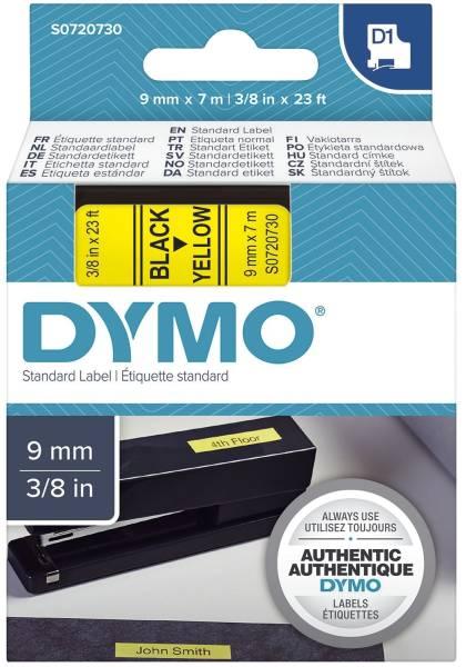 DYMO Schriftband 9mm 7m gelb/schw S0720730 40918