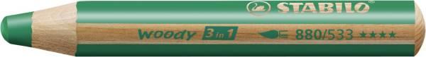 STABILO Aquarellfarbstift dunkelgrün 880/533 Woody 3 in 1