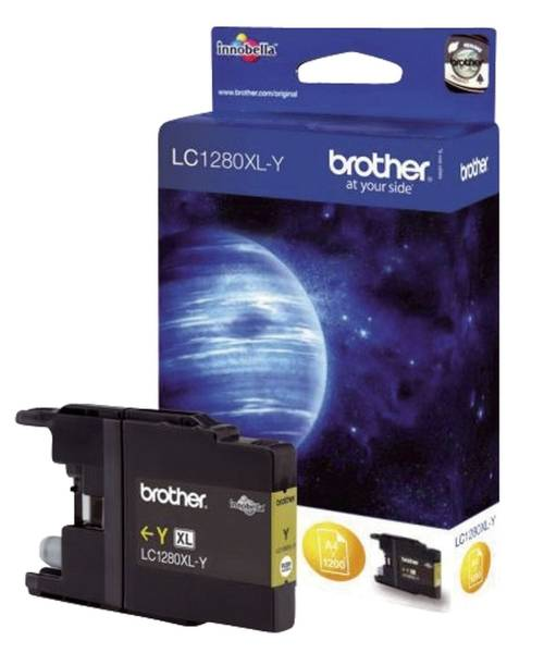 BROTHER Inkjetpatrone HY yellow LC1280XLY