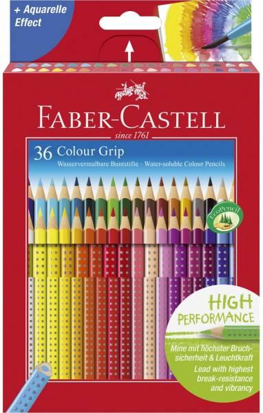 FABER CASTELL Farbstiftetui Colour Grip 36ST 112442 Ka-Et