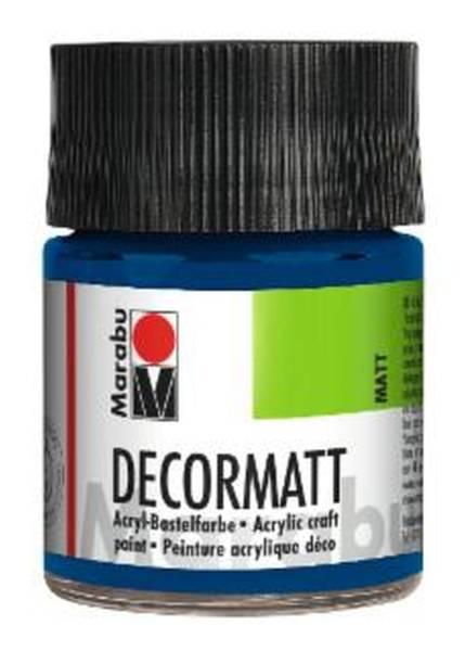 Decormatt Acryl, Dunkelblau 053, 50 ml