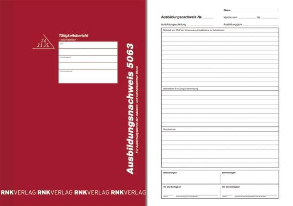 Ausbildungsnachweis Heft wöchentlich, alle Berufe IHK Berlin, 56 Seiten DIN A4