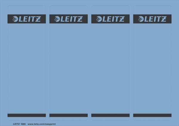 1685 PC beschriftbare Rückenschilder Papier, kurz breit,100 Stück, blau