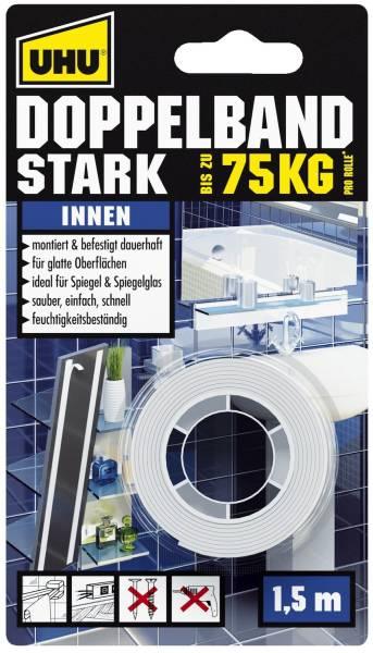 Doppelklebeband Stark für Innenbereich, 1,5 m x 19 mm, Infokarte