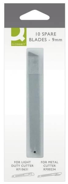 Q-CONNECT Cutter Ersatzklinge 9mm 10ST KF14757 9mm E-84007 IA