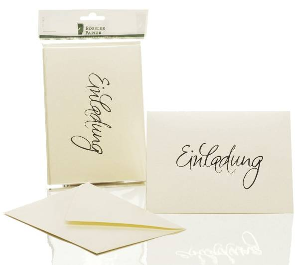 RÖSSLER Briefkarte B6 HD 5/5 candle metallic 1181955303 EINLADUNG
