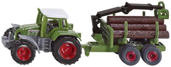 SIKU Traktor mit Forstanhänger 1645