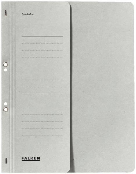 Ösenhefter A4 1 2 Vorderdeckel kfm Heftung, grau, Manilakarton, 250 g qm