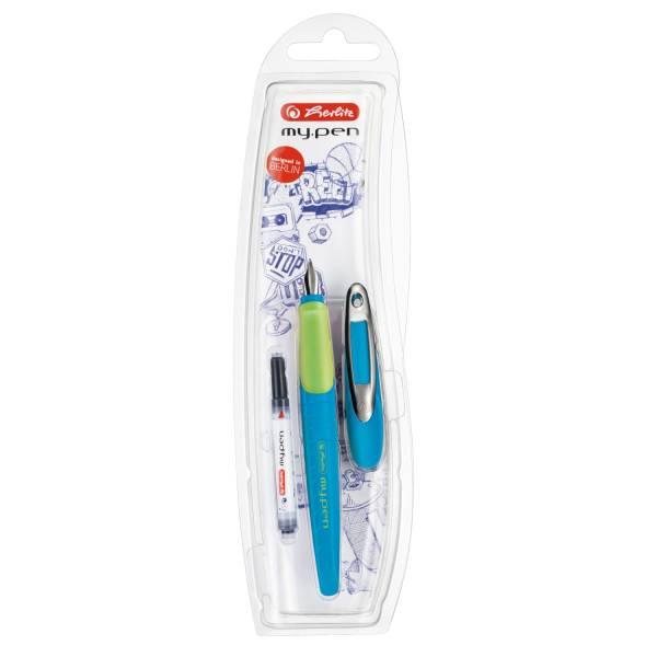 HERLITZ Füller Patrone M d.blau/lemon 10999761 my.pen