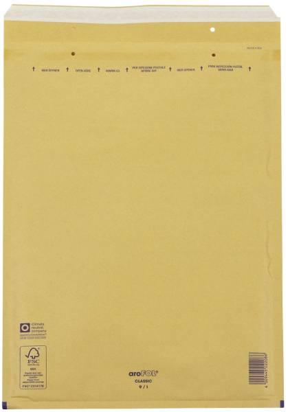 Luftpolstertaschen Nr 9, 300x445 mm, braun, 10 Stück