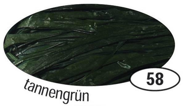 Naturbast Raffia matt, tannengrün, 50 g