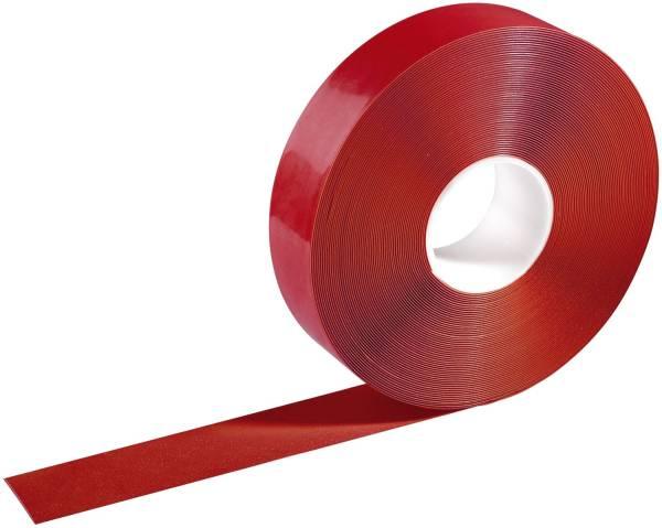 Warnmarkierungsband 50mm x 30m, selbstklebend, rot