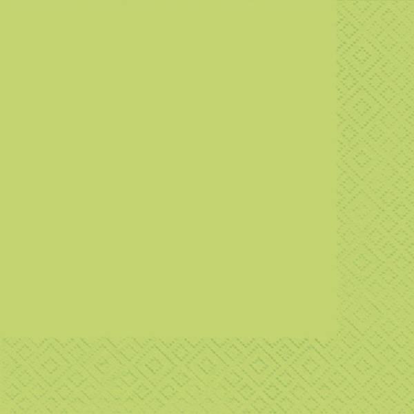Serviette Zelltuch uni 33 x 33 cm limette