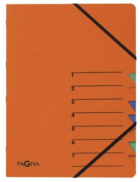 Ordnungsmappen EASY mit 7 Fächern, orange