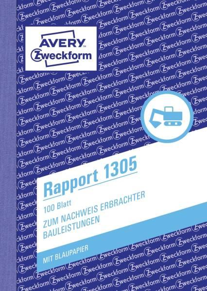 1305 Rapport, DIN A6, vorgelocht, 100 Blatt, weiß