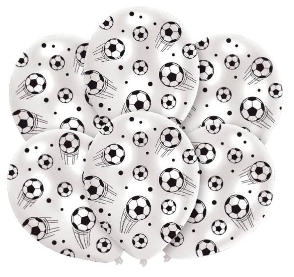 Luftballon Soccer rund, sortiert, 6 Stück