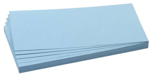 Moderationskarte, Rechteck, 205 x 95 mm, hellblau, 500 Stück