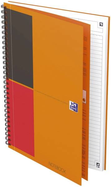 Notebook Connect Collegeblock, B5, liniert, 80 Blatt, Hardcover, 4 Eckmarkierungen zum scannen