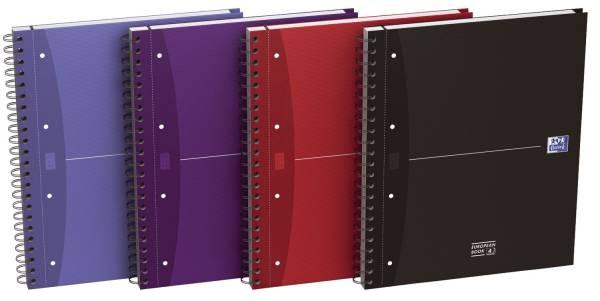 Office European Book A4+, 7mm liniert, 120 Blatt, sortiert