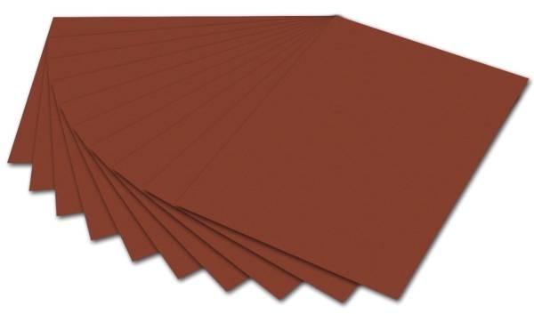 Tonpapier A4, rotbraun