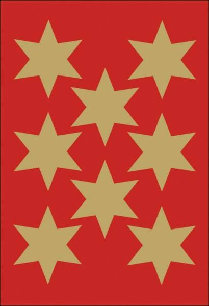 HERMA Schmucketikett Stern 33mm gold 3925 Weihnachten