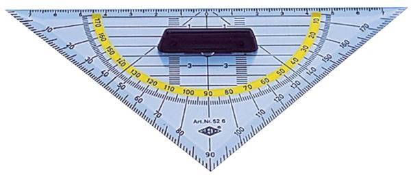 Geometrie Dreieck mit Griff, klein 160 mm