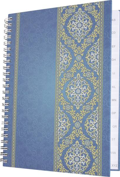 "Notizbuch mit Register A Z ""Blue Orient"" A5, 48 Blatt"