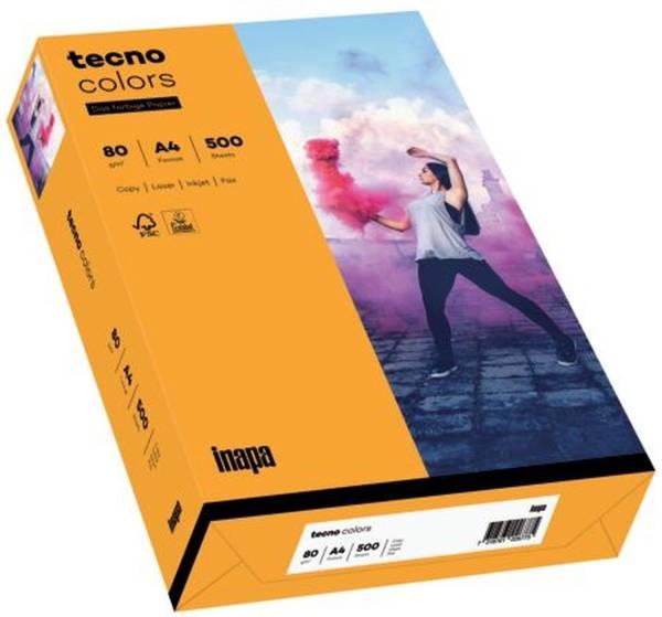 TECNO Kopierpapier Colors A4 80g 500BL m.orang 2100011411