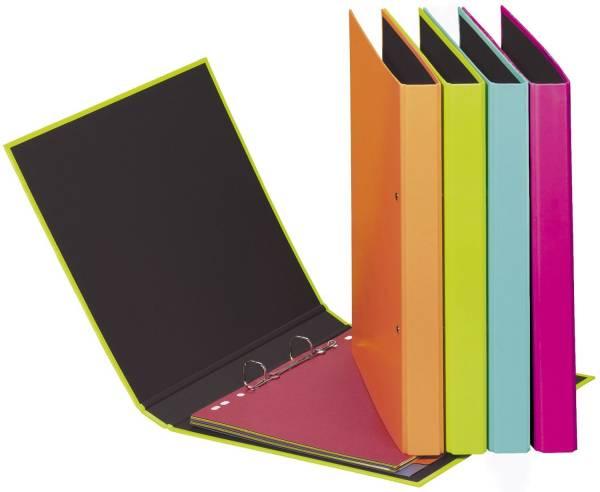 Ringbuch Trend Colours A5, 2 Ring, Ring Ø 20mm, farbig sortiert, 12 Stück