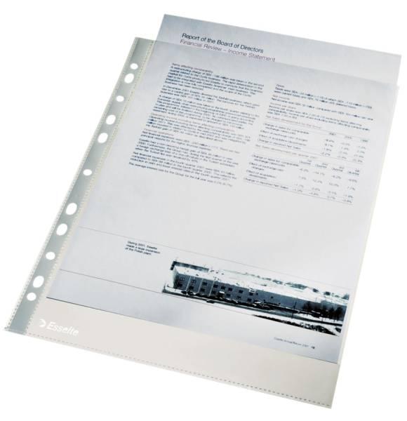 Standard Prospekthüllen glasklar, 0,04 mm, A4, 100 Stück