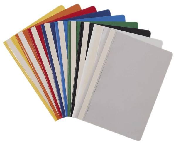 Schnellhefter VELOFORM, DIN A4, PP, Deckel transparent, Unterdeckel farbig®
