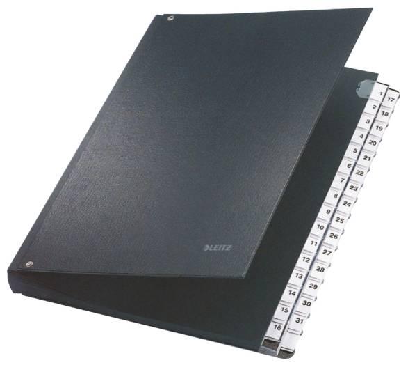 5931 Pultordner 1 31, 32 Fächer, PP, schwarz