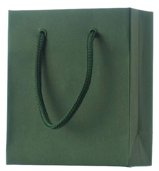 Geschenktragetasche Uni dunkelgrün klein