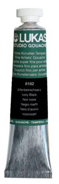 Gouachefarbe STUDIO 20 ml, Elfenbeinschwarz