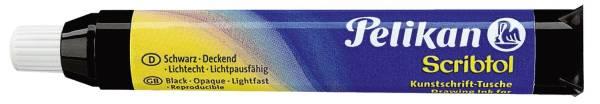 Kunstschrift Tusche Scribtol, Patrone mit Druckball+Pipette, 9 ml, schwarz®