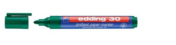 30 Brilliant paper marker nachfüllbar, 1,5 3 mm, grün