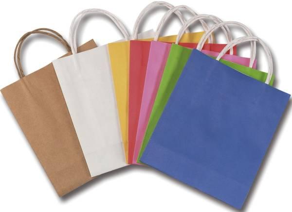 Geschenktragetasche 18 x 8 x 21 cm, 20 Stück, sortiert