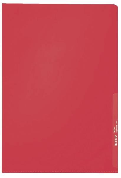 4000 Standard Sichthülle A4 PP Folie, genarbt, rot, 0,13 mm