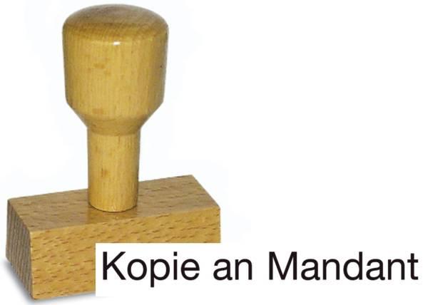 Holzstempel Kopie an Mandant ST819