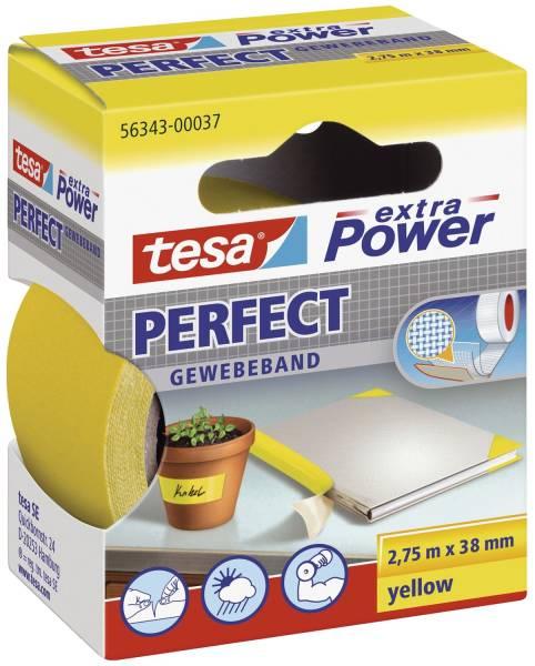 Gewebeklebeband extra Power Gewebeband, 2,75 m x 38 mm, gelb