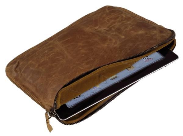 ALASSIO Tablet-PC Tasche Leder braun 601362 23x30,2cm