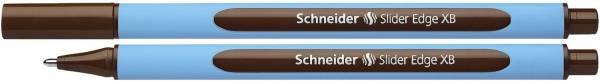 Kugelschreiber Slider Edge Kappenmodell, XB, braun