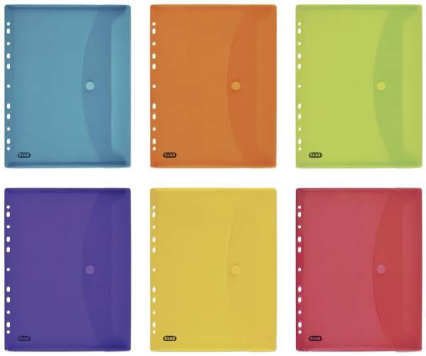 ELBA Brieftasche PP A4 6ST sortiert 400099574